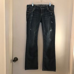 Guess Flirty Boot Stretch Distressed Jeans